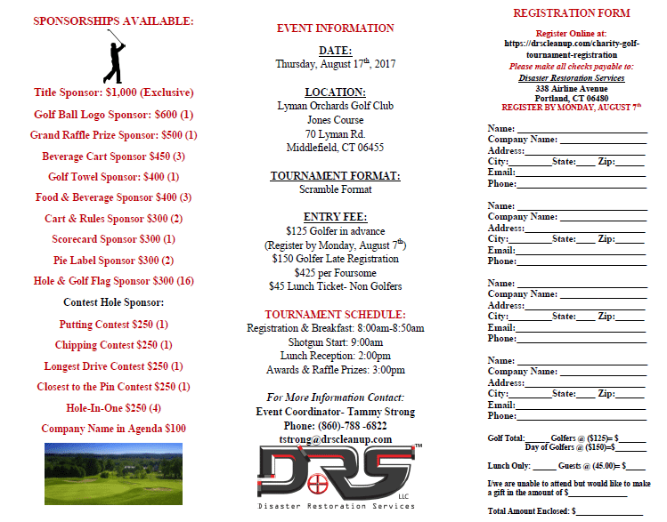 DRS Charity Golf Tournament - Get registered!