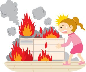 unattended cooking is a fire hazard DRS Disaster Restoration Services of Portland, Middletown, New Britain, New Haven, Norwich, CT, Springfield, Chicopee, Worcester, Framingham, MA, and Providence, Warwick, Taunton, and Fall River, RI