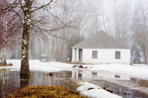 melting snow causing flooding and water damage to home DRS Disaster Restoration Services of Portland, Middletown, New Britain, New Haven, Norwich, CT, Springfield, Chicopee, Worcester, Framingham, MA, and Providence, Warwick, Taunton, and Fall River, RI